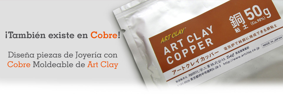 Cobre moldeable Art Clay para crear joyería